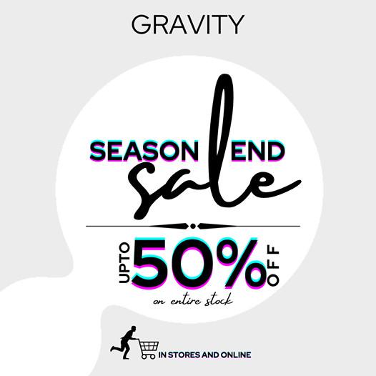Gravity - End Season Sale
