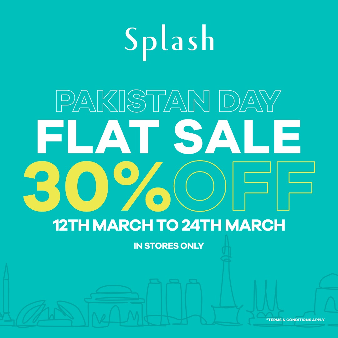 Splash Pakistan - Flat Sale