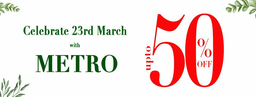 Metro Shoes - Pakistan Day Sale