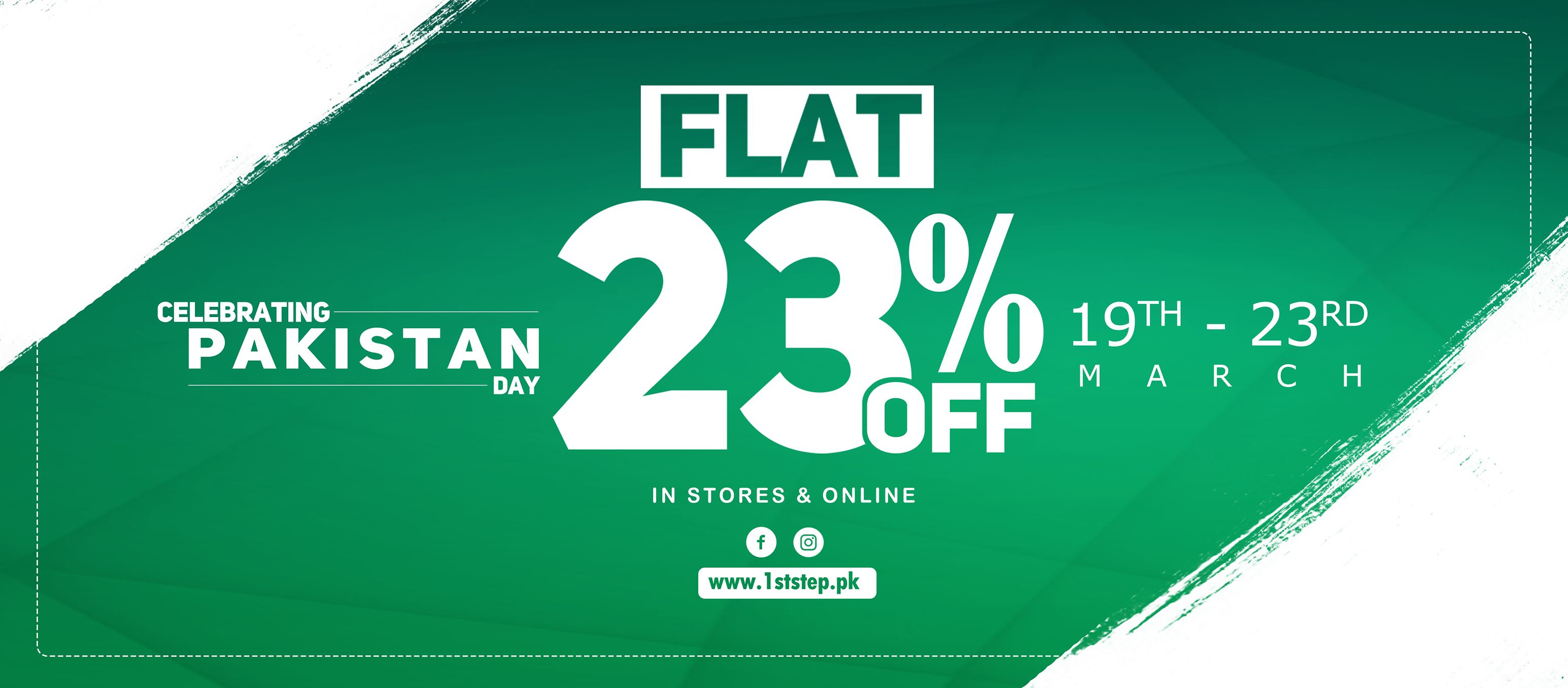 1st STEP - Pakistan Day Sale
