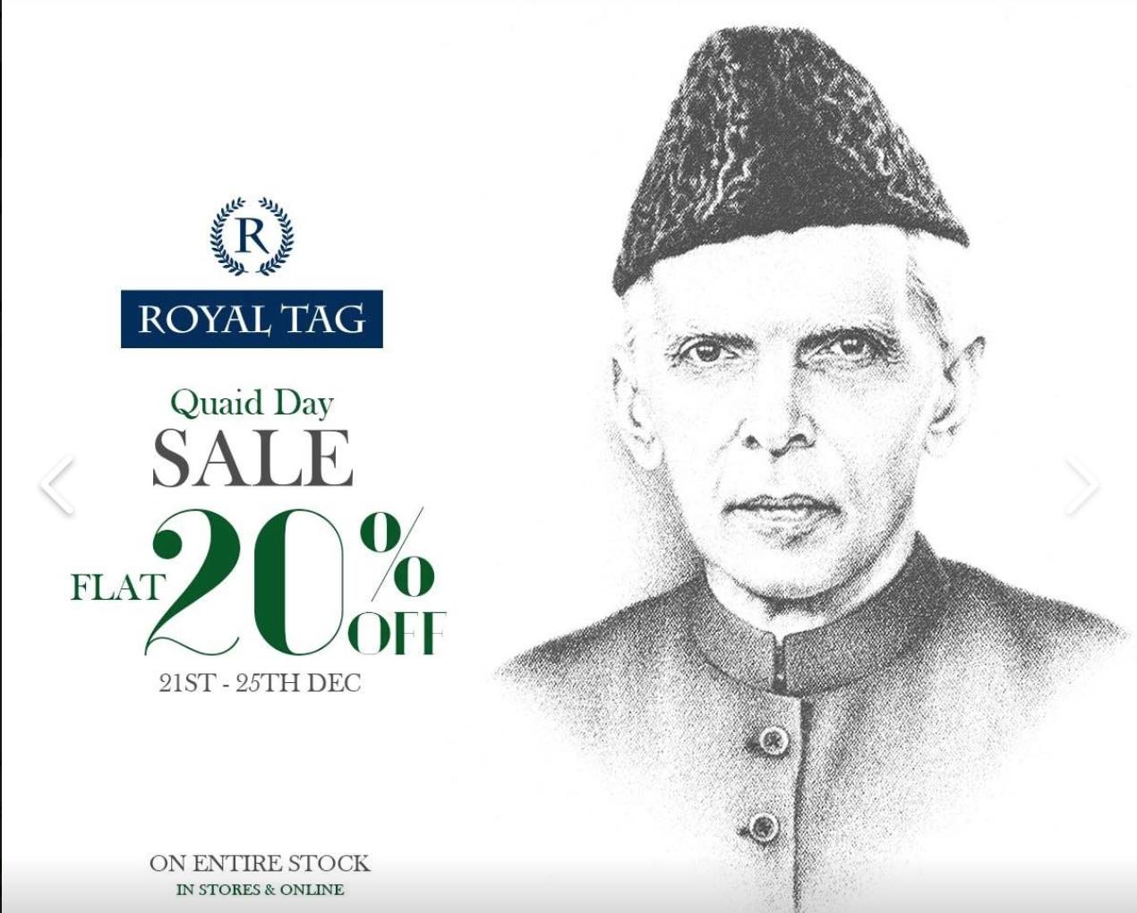 Royal Tag - Quaid Day Sale