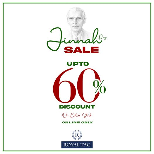 Royal Tag - Jinnah Sale