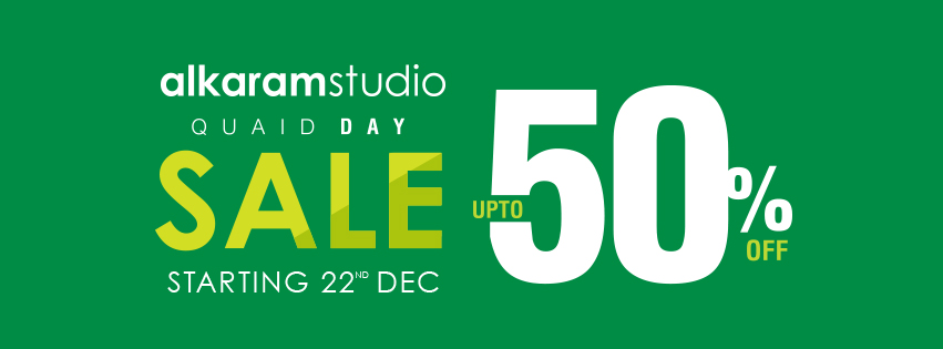Alkaram Studio - Quaid Day Sale