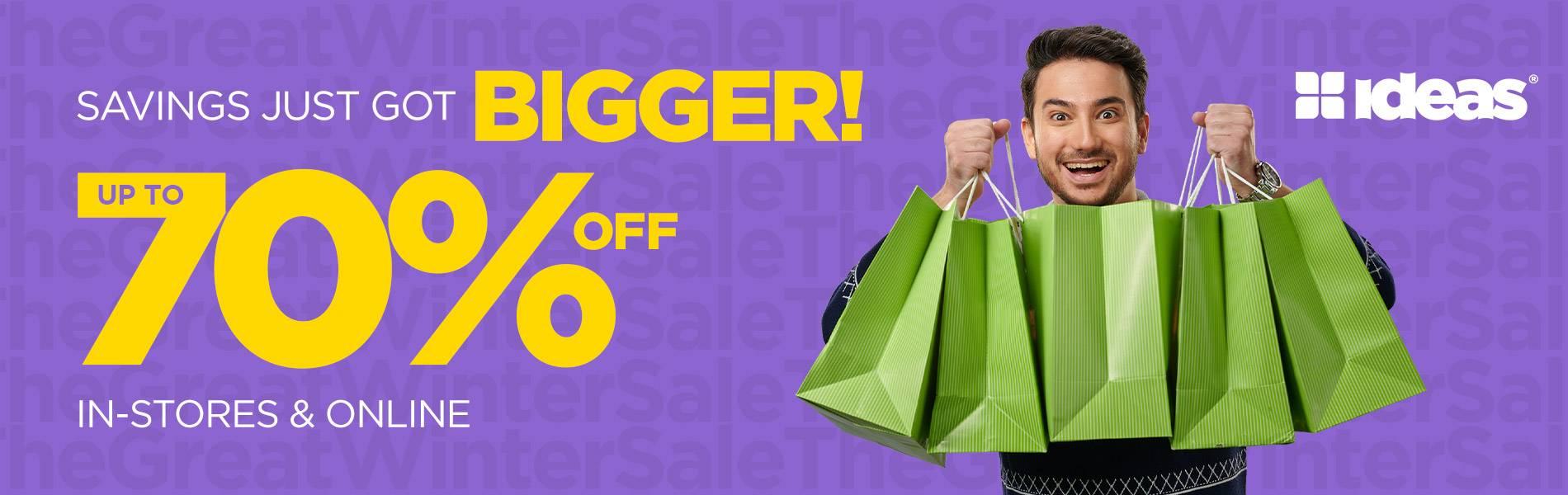 Saving Just Got Bigger Sale