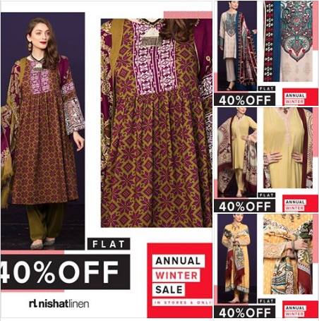 Nishat Linen - Winter Annual Sale