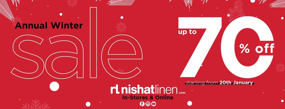 Nishat Linen - Annual Winter Sale