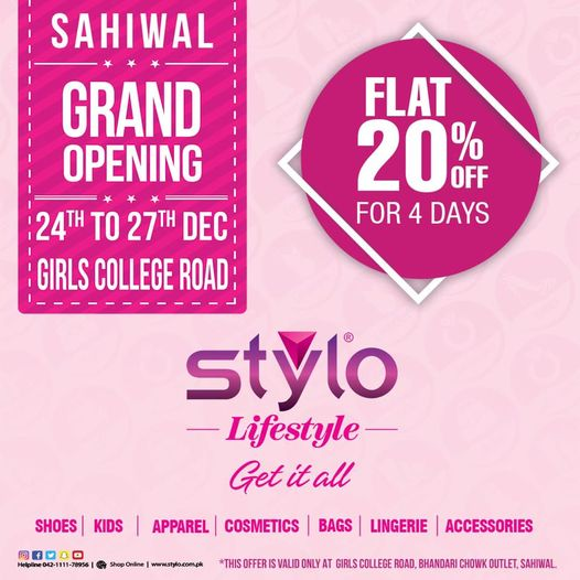 Stylo Shoes - Grand Opening Sale