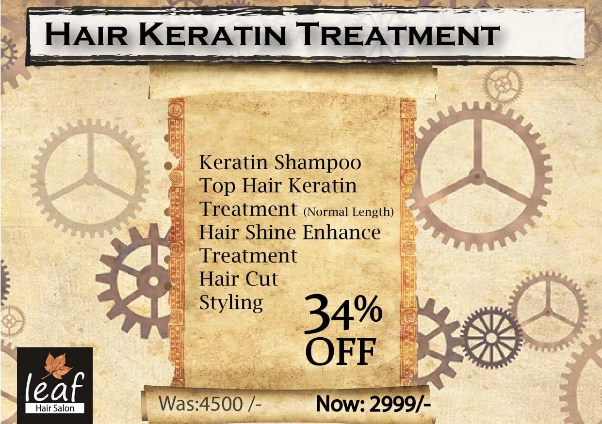 Leaf Hair Salon & Spa - Hair Keratin Treatment