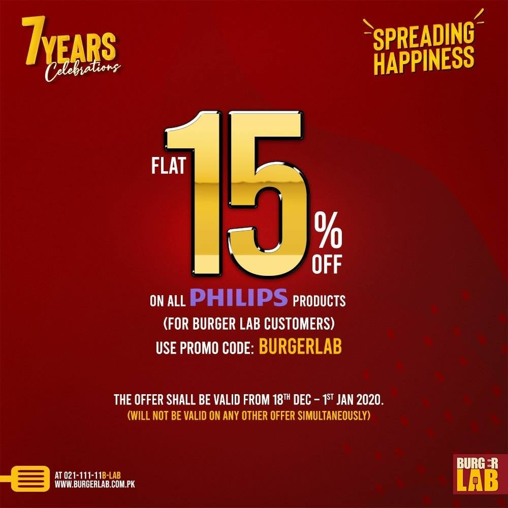 Burger Lab - 7 Year Celebration Sale