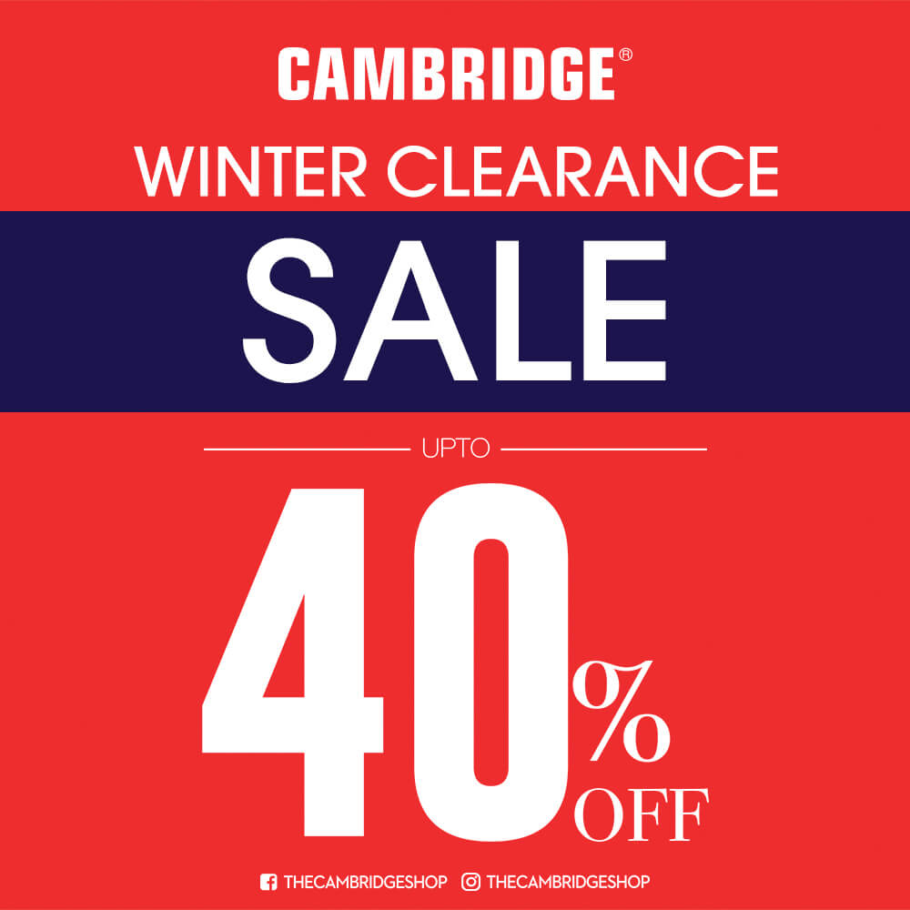 The Cambridge Shop - Winter Clearance Sale