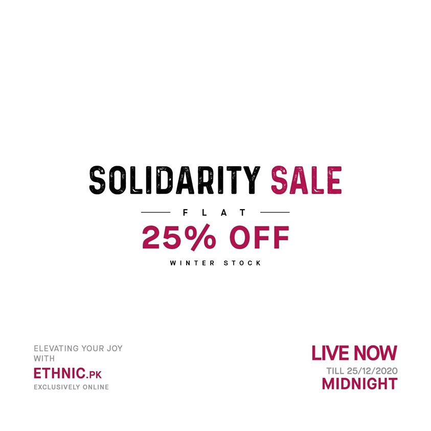 Ethnic By Outfitters - Solidarity Sale