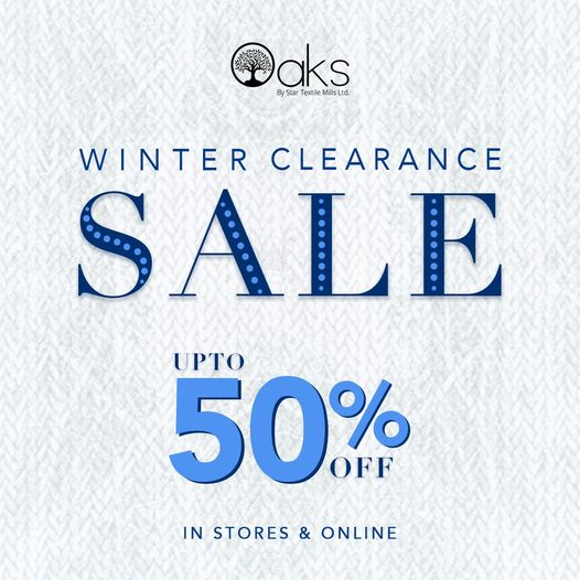 Oaks - Winter Clearance Sale