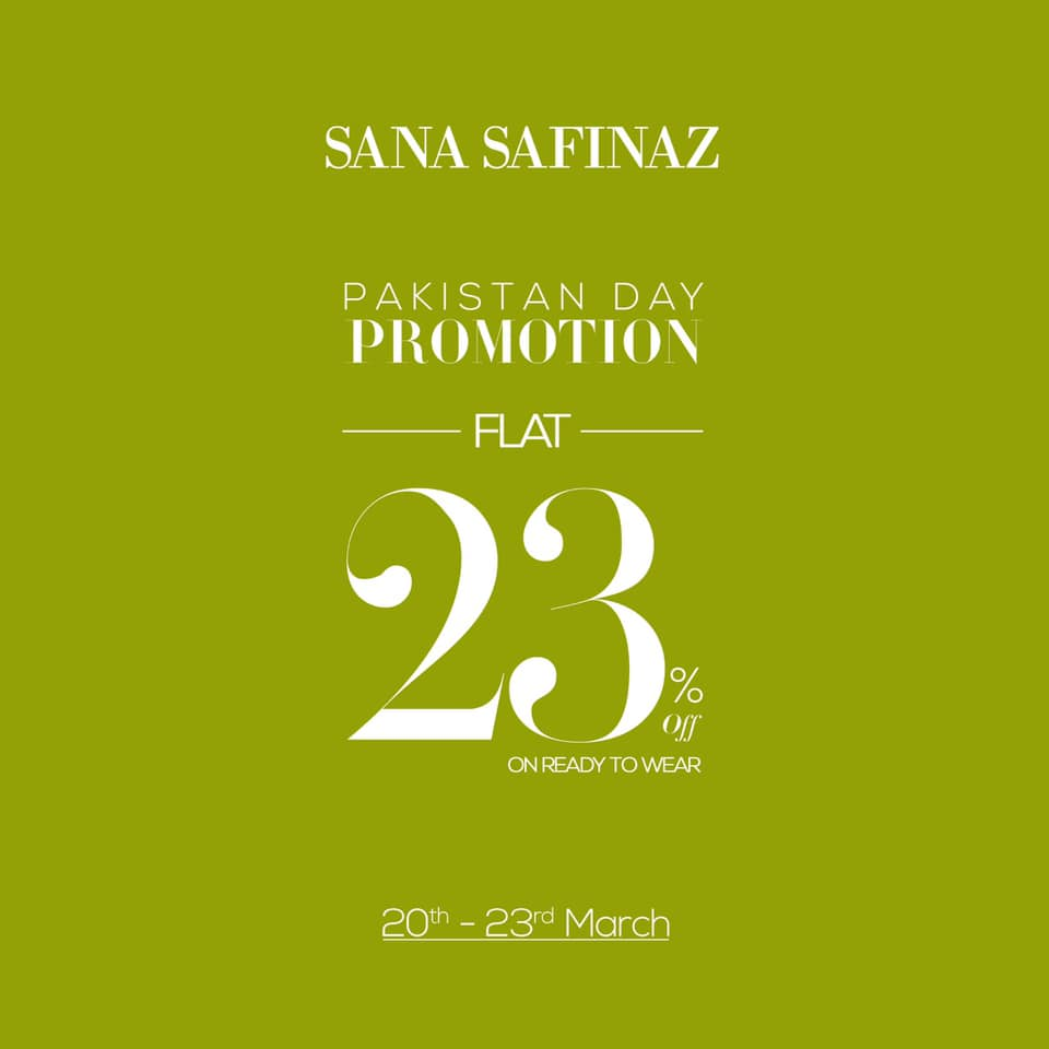 Sana Safinaz - Pakistan Day Promotion