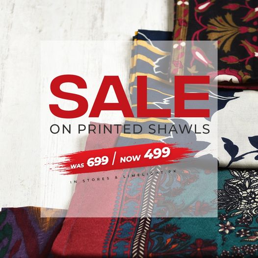 Limelight - Sale On Printed Shawls
