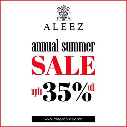 Aleez - Annual Summer Sale