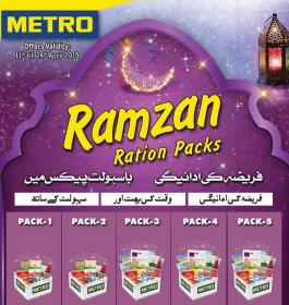 Metro Cash And Carry - Ramzan Ration Packs ;amp; Promotions