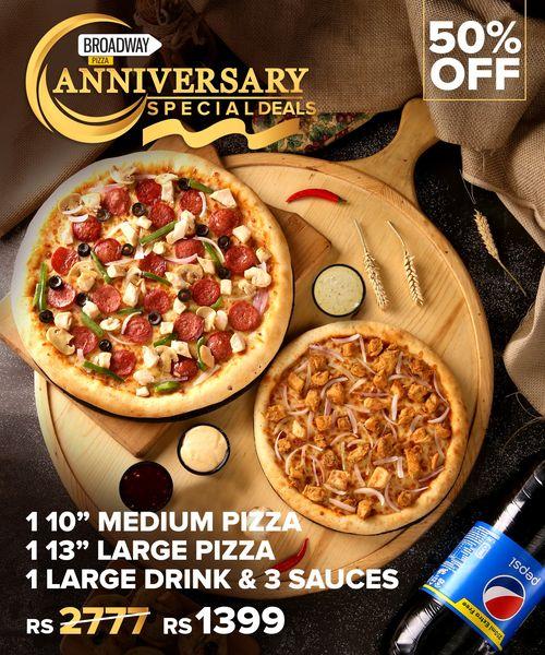 Broadway Pizza - Anniversary Deal