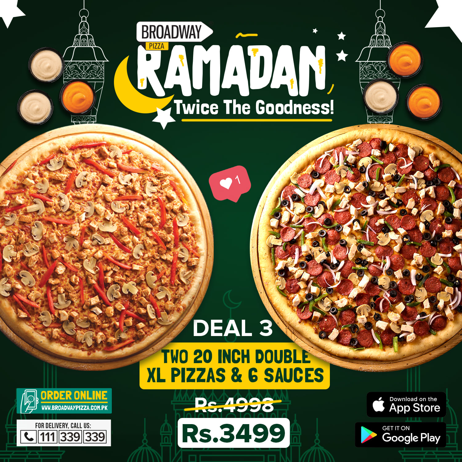 Broadway Pizza - Ramzan Deal