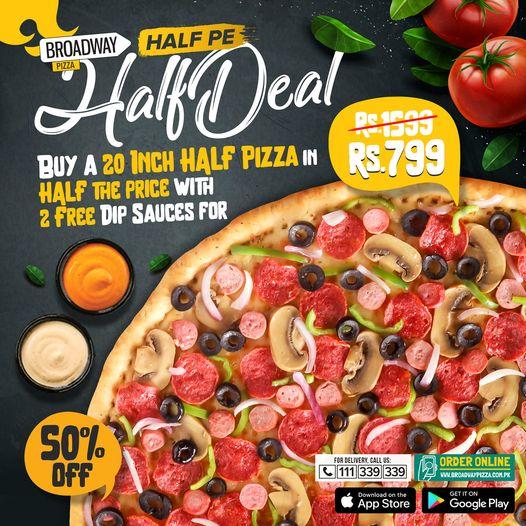Broadway Pizza - Half Deal