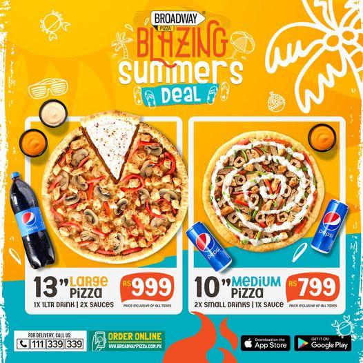 Broadway Pizza - Blazing Summer Deal
