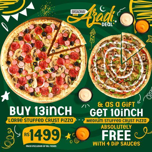 Broadway Pizza - Azadi Deal