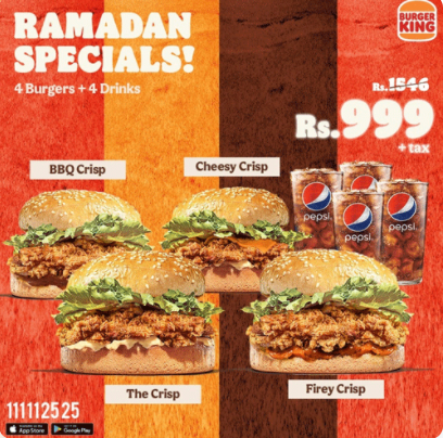 Burger King - Ramzan Special Deal