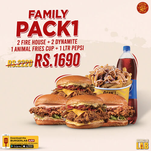 Burger Lab - Family Pack Deal