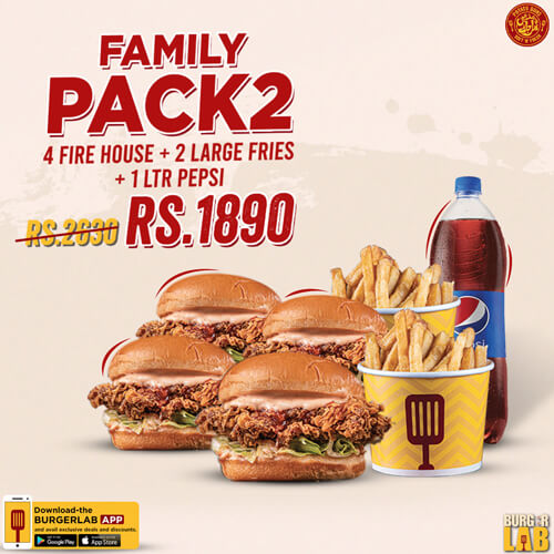 Burger Lab - Family Pack 2 Deal