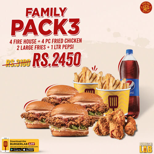 Burger Lab - Family Pack 3 Deal