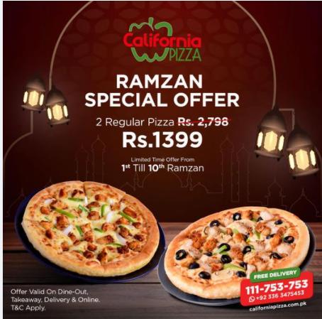 California Pizza - Ramzan Deal