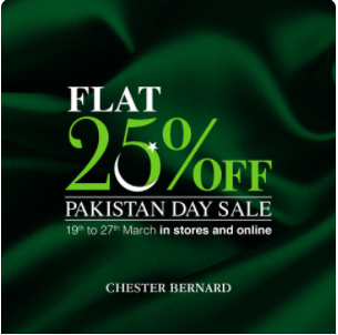 Chester Bernard - Pakistan Day Sale