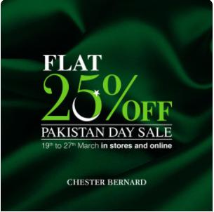Chester Bernard - Pakistan Day Sale