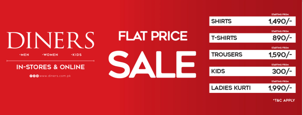 Diners - Flat Price Sale