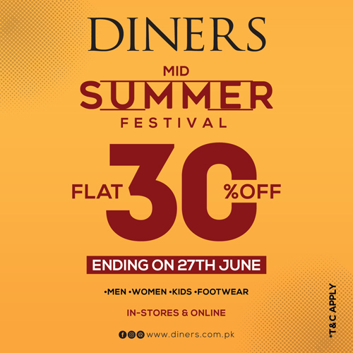 Diners - Mid Summer Festival Sale