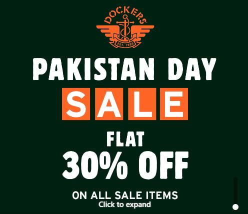 Dockers - Pakistan Day Sale