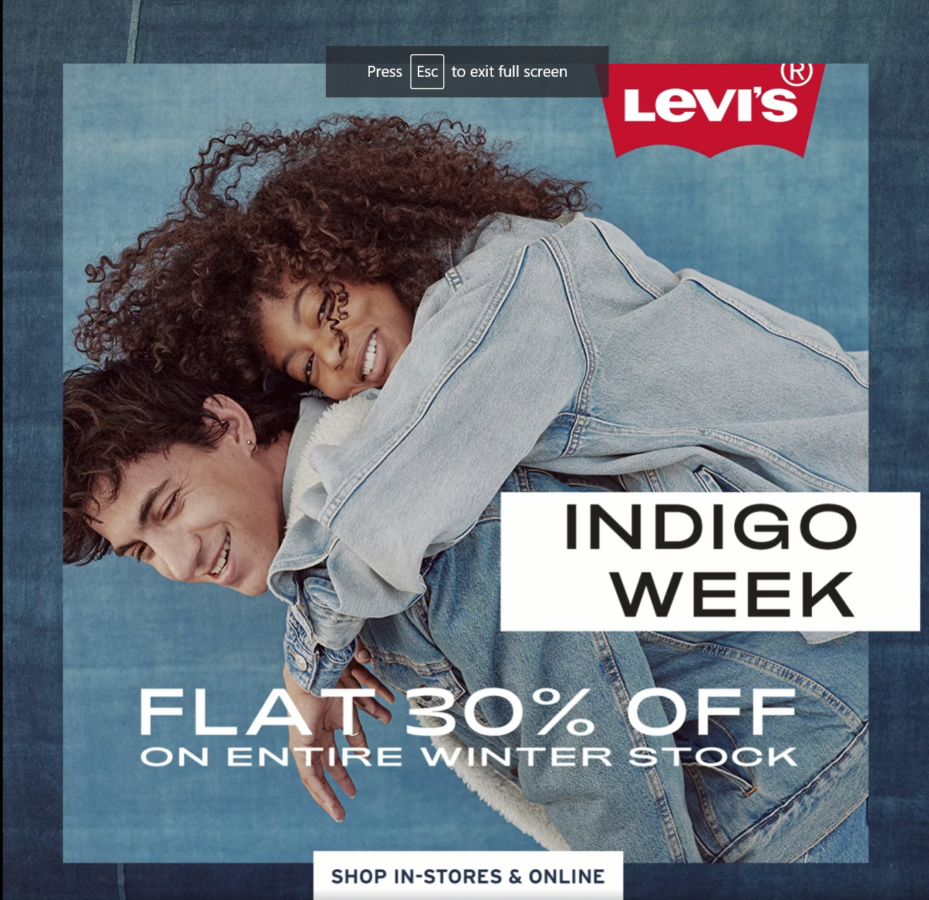 Levi's - Indigo Week Sale