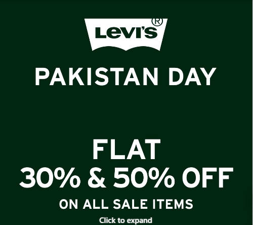 Levi's - Pakistan Day Sale
