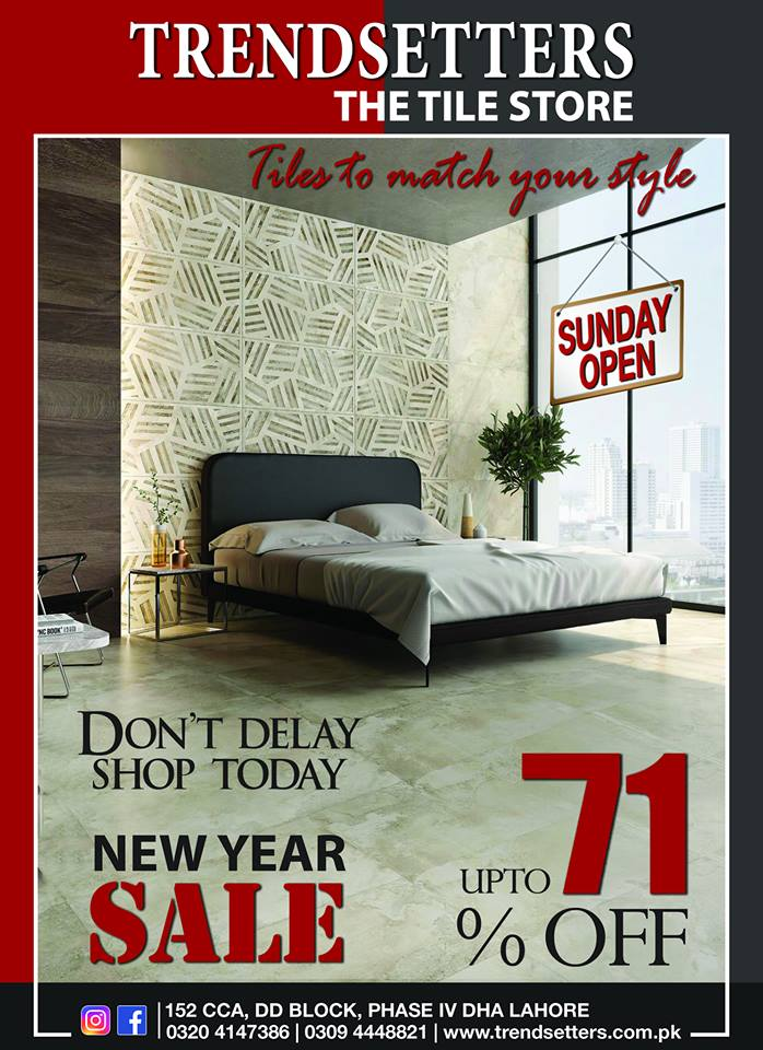 Trendsetters - New Year Sale On Chinese Tiles