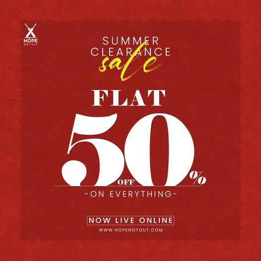 Hope Not Out - Summer Clearance Sale