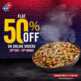 Dominos - Flat 50% Offer