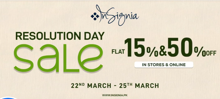 Insignia - Pakistan Day Sale