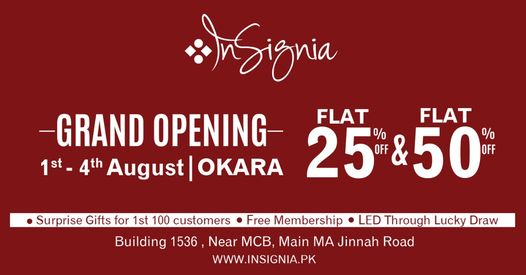 Insignia - Opening Sale