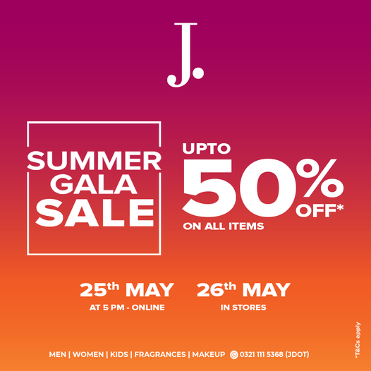 Junaid Jamshed - Summer Gala Sale
