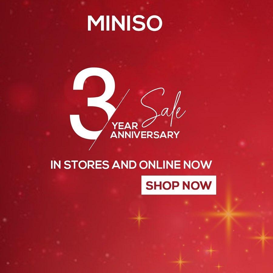 Miniso - 3rd Year Anniversary Sale