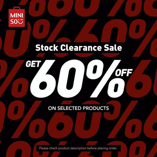 Miniso - Stock Clearance Sale