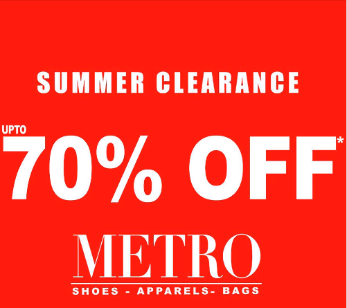Metro Shoes - Summer Clearance Sale