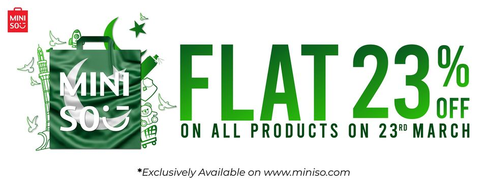 Miniso - Pakistan Day Sale