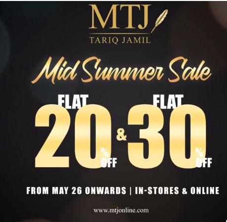 MTJ - Tariq Jamil - Mid Summer Sale
