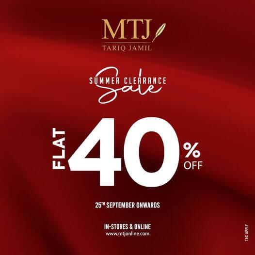 MTJ - Tariq Jamil - Summer Clearance Sale