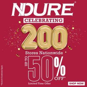 NDURE - Celebrate 200 Stores